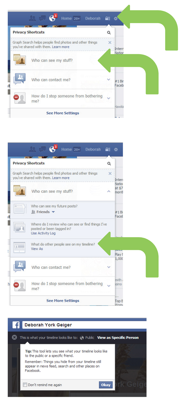 Facebook Access to Privacy Settings