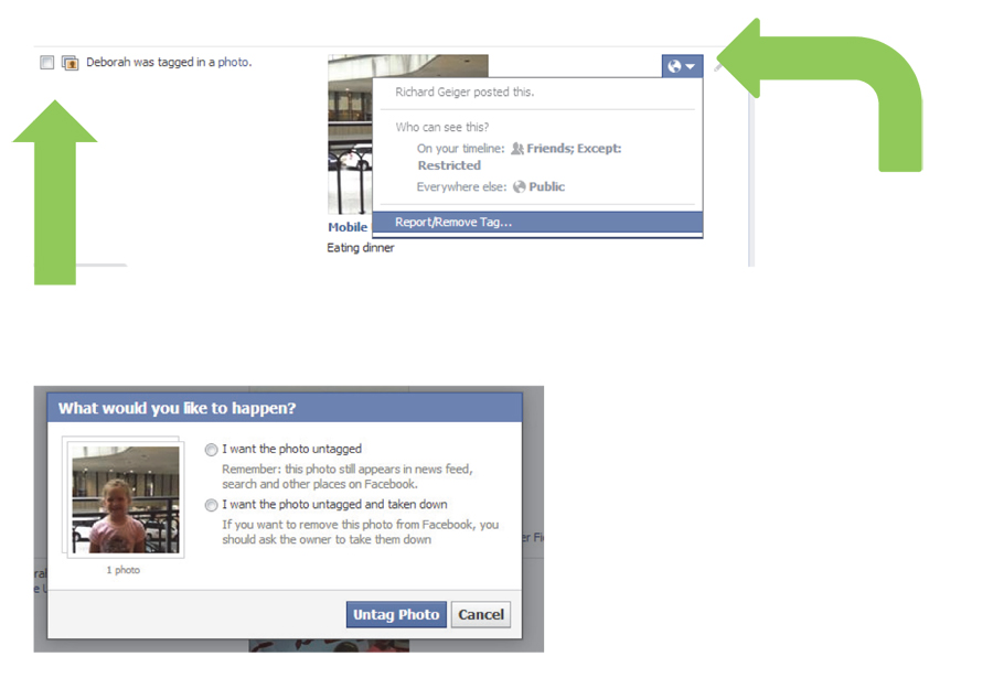 Graphic image tutorial about Facebook Privacy settings